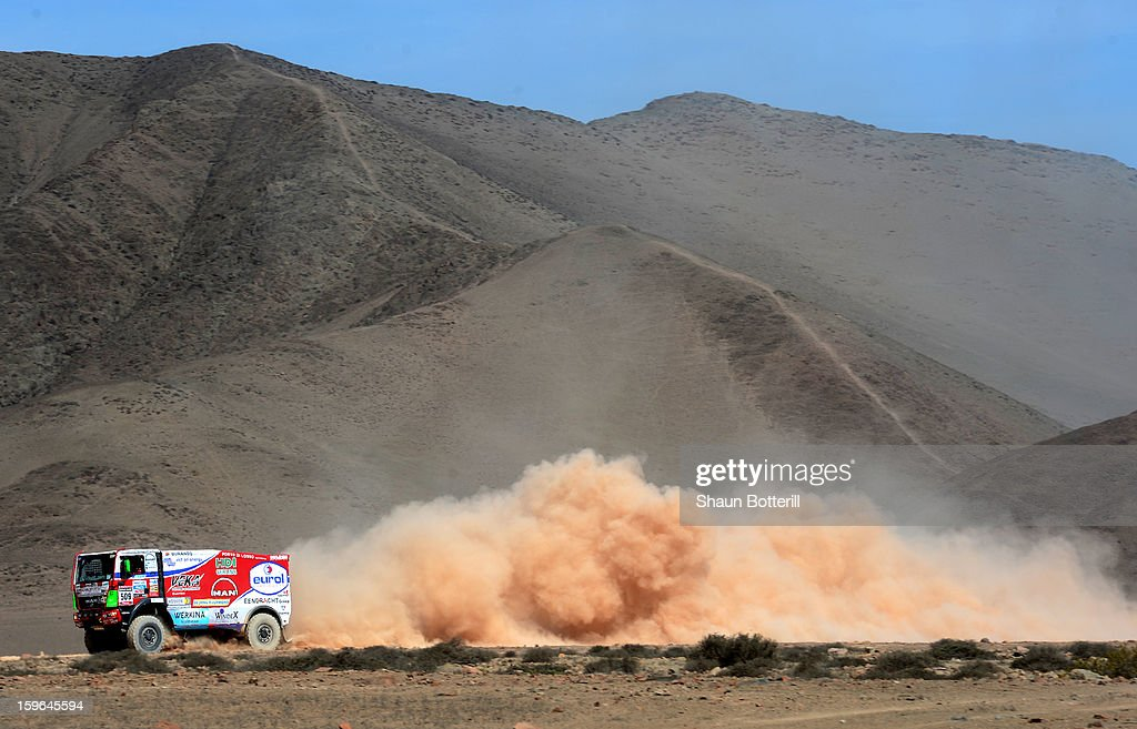 Pieter Versluis of team Man competes in stage 12 from Fiambala to Copiapo during the 2013 Dakar Rally on January 17, 2013 in Fiambala, Argentina.