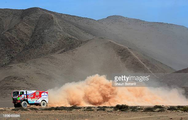 Pieter Versluis of team Man competes in stage 12 from Fiambala to Copiapo during the 2013 Dakar Rally on January 17 2013 in Fiambala Argentina