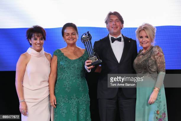 Pieter Zwart CEO of Coolblue BV receives award for 'EY Entrepreneur of the Year' for the Netherlands on June 10 2017 at the Salle des Etoiles in...