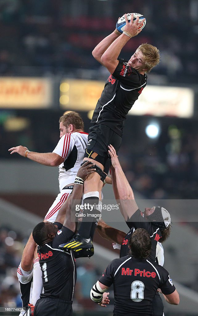 Pieter-Steph du Toit of Sharks during the Super Rugby match between The Sharks and Crusaders from Kings Park on April 05, 2013 in Durban, South Africa.