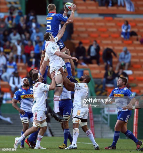 PieterSteph du Toit of the Stormers during the Super Rugby Quarter final between DHL Stormers and Chiefs at DHL Newlands on July 22 2017 in Cape Town...