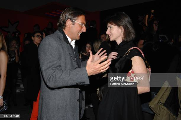 Pietro Beccari and Diane Mahady attend LOUIS VUITTON Tribute to STEPHEN SPROUSE Exhibition Preview at Deitch Projects on January 8 2009 in New York...
