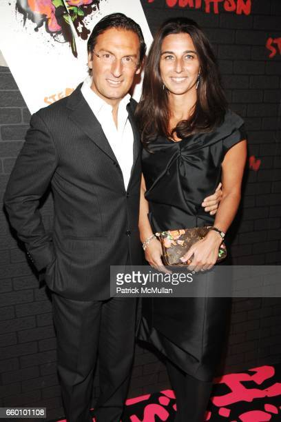 Pietro Beccari and Elisabetta Beccari attend LOUIS VUITTON Tribute to STEPHEN SPROUSE VIP Cocktail Party at Louis Vuitton on January 8 2009 in New...