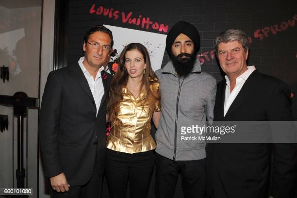 Pietro Beccari Chiara Clemente Waris Ahluwalia and Yves Carcelle attend LOUIS VUITTON Tribute to STEPHEN SPROUSE VIP Cocktail Party at Louis Vuitton...