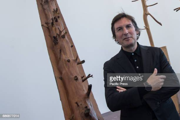 Pietro Beccari during the press conference in the framework of exhibition 'Matrice' by Giuseppe Penone for the presentation of ' Foglie di Pietra'...