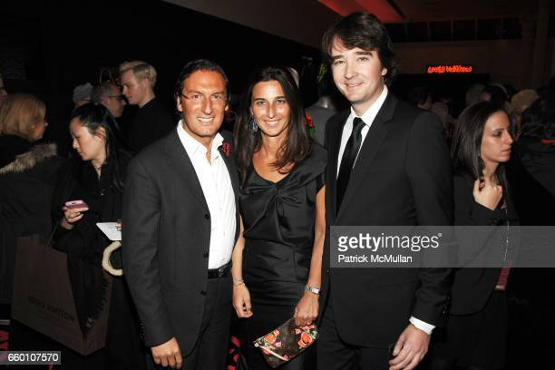 Pietro Beccari Elisabetta Beccari and Antoine Arnault attend LOUIS VUITTON Tribute to STEPHEN SPROUSE VIP Cocktail Party at Louis Vuitton on January...
