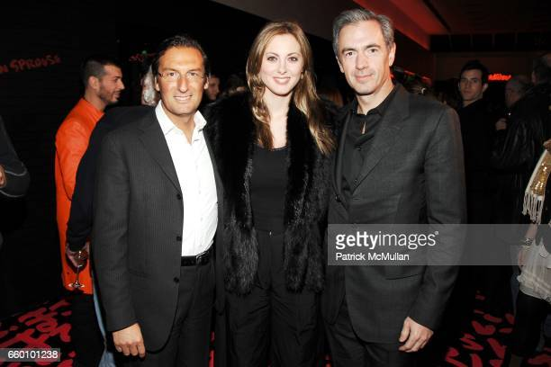 Pietro Beccari Eva Amurri and Daniel Lalonde attend LOUIS VUITTON Tribute to STEPHEN SPROUSE VIP Cocktail Party at Louis Vuitton on January 8 2009 in...