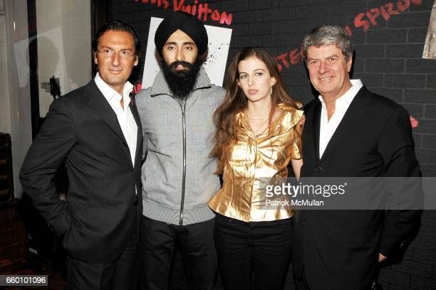 Pietro Beccari Waris Ahluwalia Chiara Clemente and Yves Carcelle attend LOUIS VUITTON Tribute to STEPHEN SPROUSE VIP Cocktail Party at Louis Vuitton...