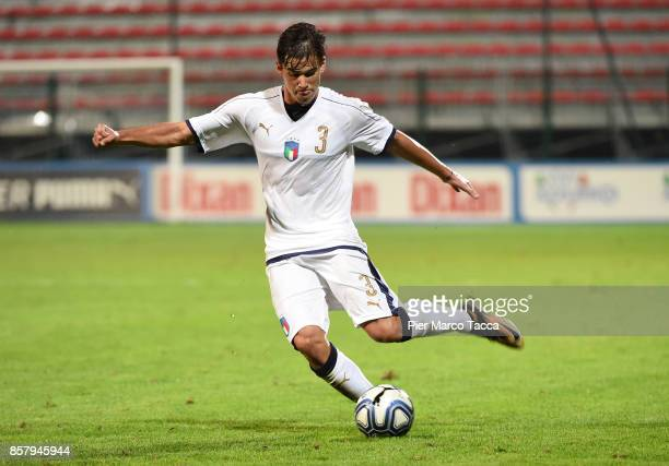 Pietro Beruatto of Italy U21 in action during the 8 Nations Tournament match between Italy U20 and England U20 on October 5 2017 in Gorgonzola Italy