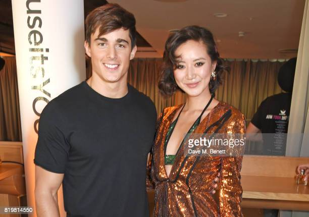 Pietro Boselli and Betty Bachz attend the Emporio Armani You Fragrance launch at Sea Containers on July 20 2017 in London England