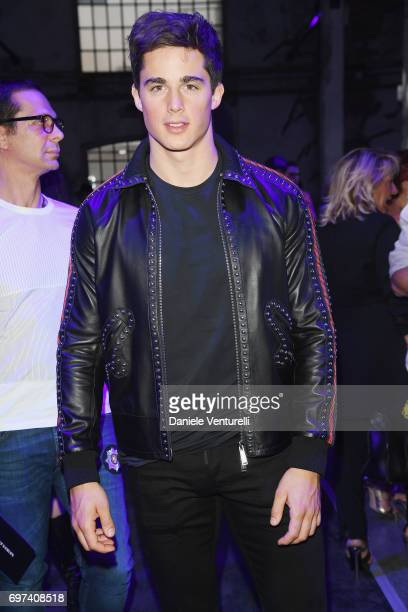 Pietro Boselli arrives at the Dsquared2 show during Milan Men's Fashion Week Spring/Summer 2018 on June 18 2017 in Milan Italy