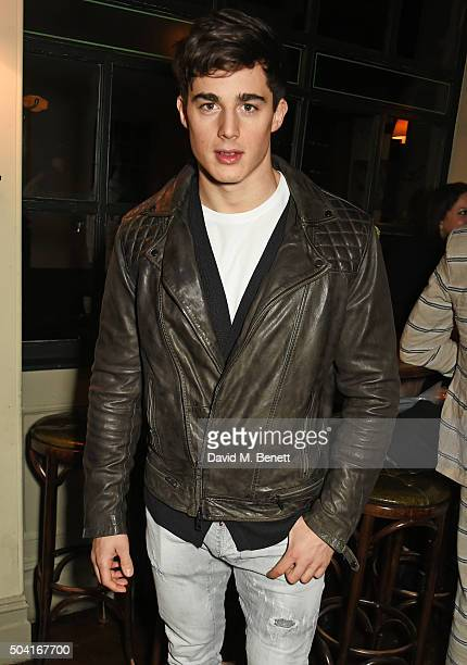 Pietro Boselli attends COACH Men's Fall/Winter 2016 Party hosted by Stuart Vevers at The Lady Ottoline on January 9 2016 in London England