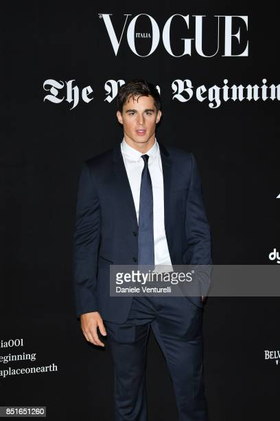 Pietro Boselli attends the Vogue Italia 'The New Beginning' Party during Milan Fashion Week Spring/Summer 2018 on September 22 2017 in Milan Italy