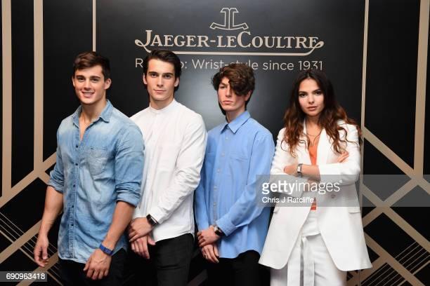Pietro Boselli Harry Rowley Zaki Maoui and Doina Ciobanu attend JaegerLeCoultre Christie's 'Roaring 20's Reverso 30's' Party at Christie's South...