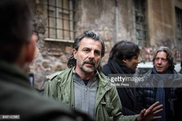 Pietro Calabrese at the reoccupied Rialto Sant'Ambrogio after the evacuation of 16 February 2017 by the Municipal police of Rome Capital