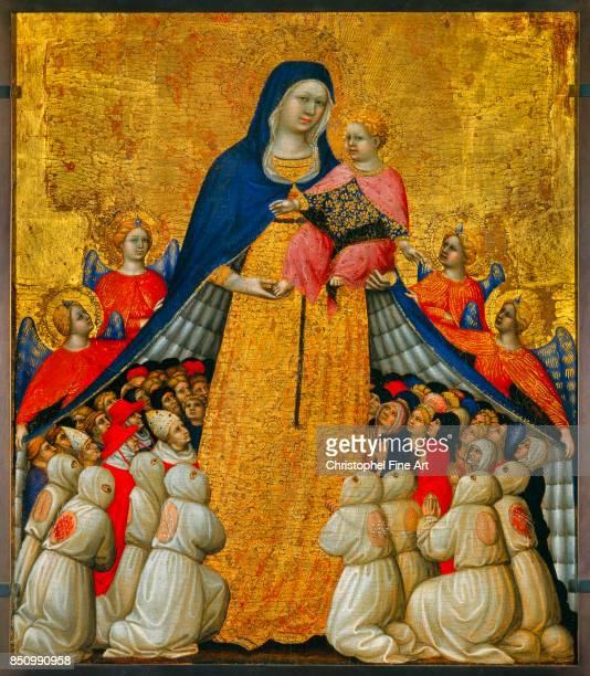 Pietro Di Domenico Da Montepulciano The Virgin of Mercy Oil on wood 054 x 043 m Avignon musee du Petit Palais