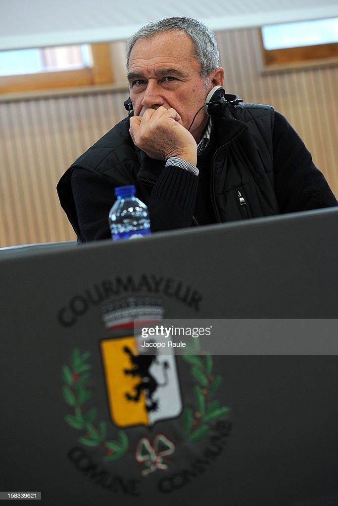 Pietro Grasso attends the 22th Courmayeur Noir In Festival on December 13, 2012 in Courmayeur, Italy.