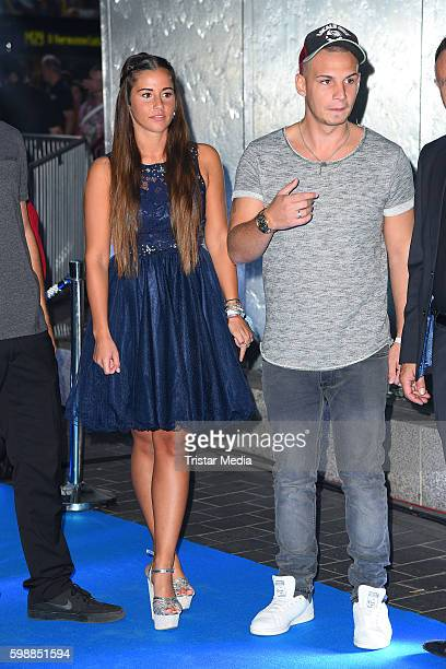 Pietro Lombardi and his wife Sarah Lombardi attend the Alcatel Entertainment Night on September 2 2016 in Berlin Germany