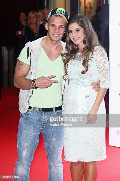 Pietro Lombardi and Sarah Engels attend the 'Mamma Mia' Musical Premiere at the Stage Metronom Theater on March 5 2015 in Oberhausen Germany