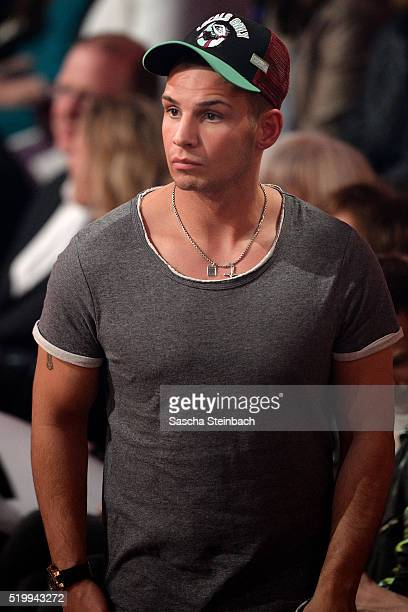 Pietro Lombardi is seen during the 4th show of the television competition 'Let's Dance' at Coloneum on April 8 2016 in Cologne Germany