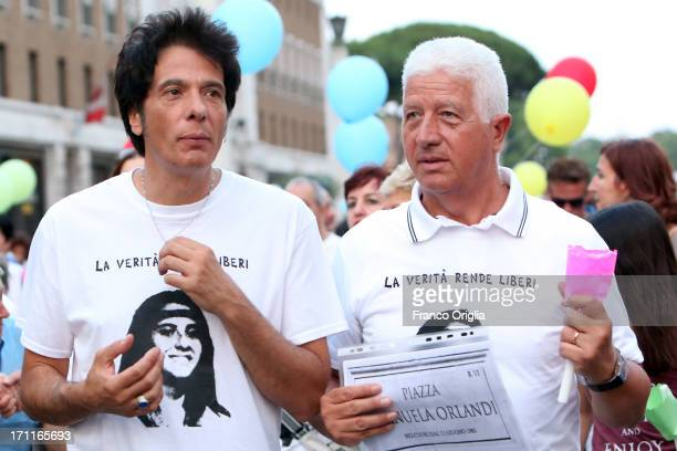 Pietro Orlandi brother of Emanuela Orlandi and others gather in St Peter's Square to mark the 30th anniversary of the disappearance of Emanuela...