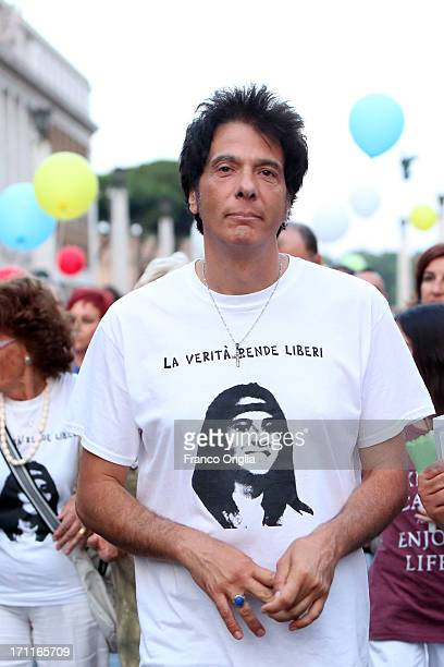 Pietro Orlandi brother of Emanuela Orlandi arrives in St Peter's Square for the 30th Anniversary of Emanuela Orlandi's disappearance on June 22 2013...