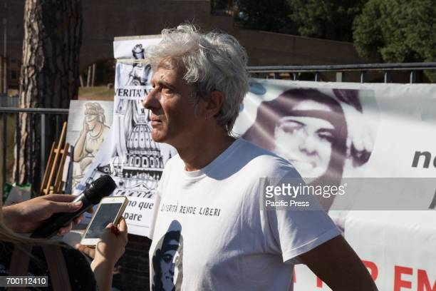 Pietro Orlandi brother of Emanuela Orlandi during the sitin to remember Emanuela Orlandi mysteriously disappeared on June 22 1983 in Rome