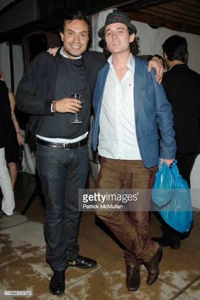 Pietro Quaglia and Bobby Kennedy III attend AMANDA HEARST and LUIGI TADINI Host an Evening to Benefit RIVERKEEPER at Empire Hotel on June 11 2009 in...