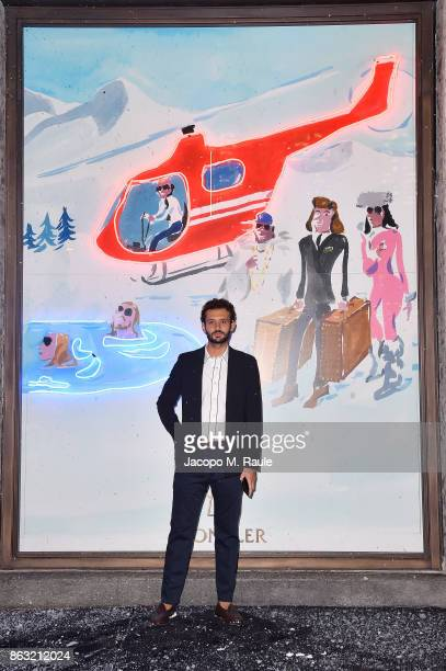 Pietro Ruffini attends the Moncler Flagship Store Opening Cocktail on October 19 2017 in Milan Italy