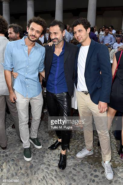 Pietro Ruffini Fabio Novembre and Romeo Ruffini attend the Moncler Gamme Bleu show during Milan Menswear Fashion Week Spring Summer 2015 on June 22...