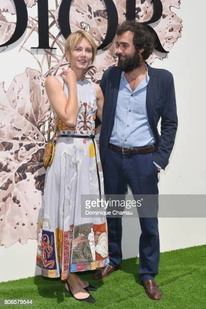 Pietro Ruffo and Isabella Uguccione attend the Christian Dior Haute Couture Fall/Winter 20172018 show as part of Haute Couture Paris Fashion Week on...