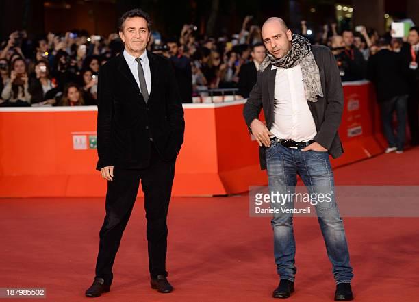Pietro Valsecchi and Checco Zalone attend 'Checco Zalone' Premiere during The 8th Rome Film Festival on November 14 2013 in Rome Italy