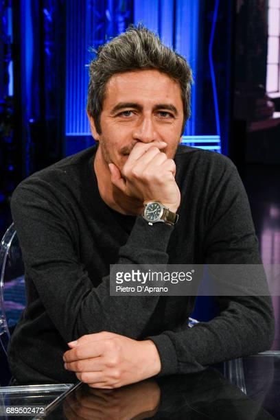 Pif Pierfrancesco Diliberto attends 'Che Tempo Che Fa' tv show at Rai Milan Studios on May 28 2017 in Milan Italy