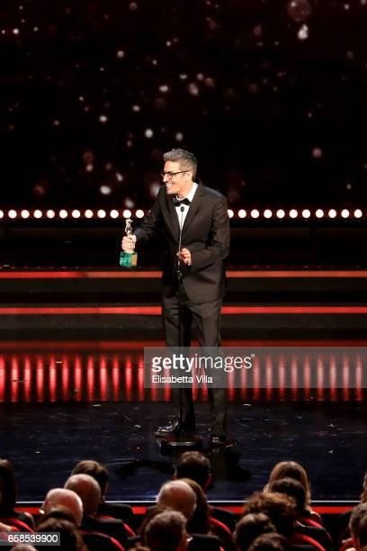 Pif receives the 'David Giovani' Award during the 61 David Di Donatello ceremony on March 27 2017 in Rome Italy