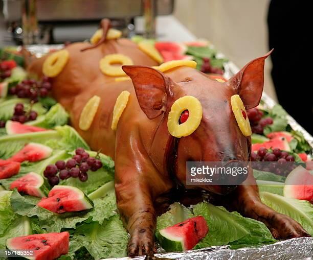 Pig at a luau.