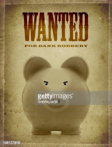 pig wanted : Stock Photo