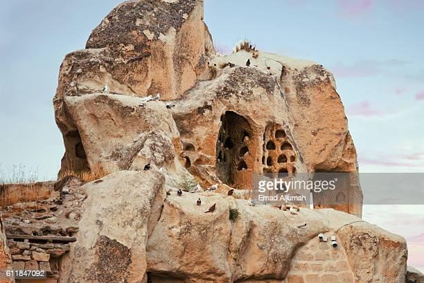 Pigeon houses in Cappadicia, Turkey