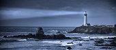 'Pigeon Point lighthouse panoramic USA, California, Big Sur'