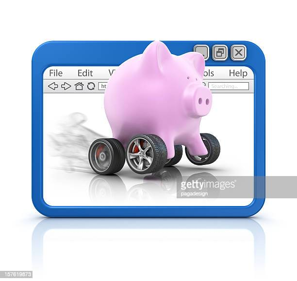 piggy bank in browser