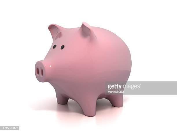Sparschwein, isoliert auf weiss