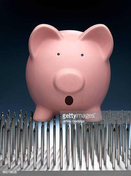 Piggy Bank on Bed of Nails