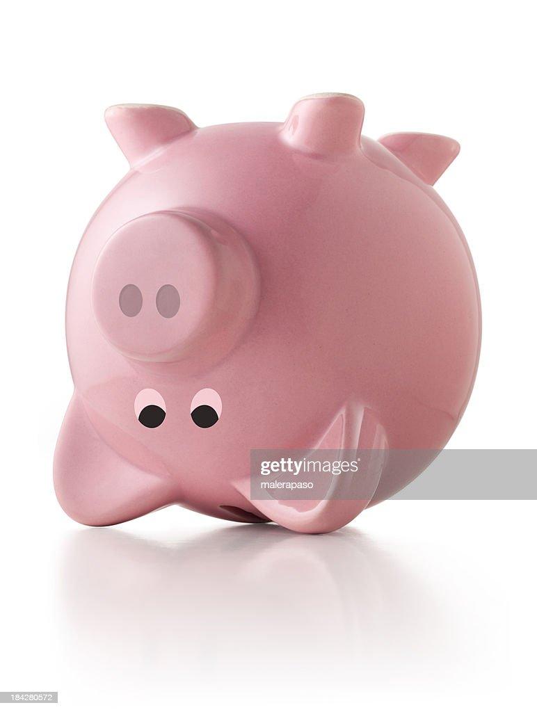 Piggy bank upside down