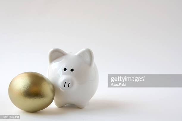 Piggy Bank with Golden Egg