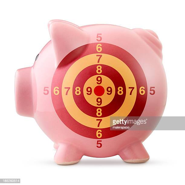 Piggy bank with target