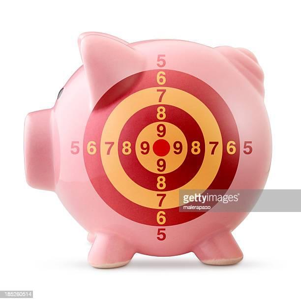 Tirelire en forme de cochon avec target