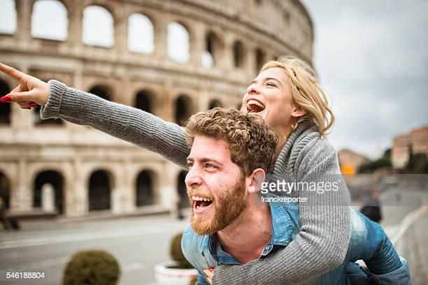 che trasporta sulle spalle per St. San Valentino a Roma