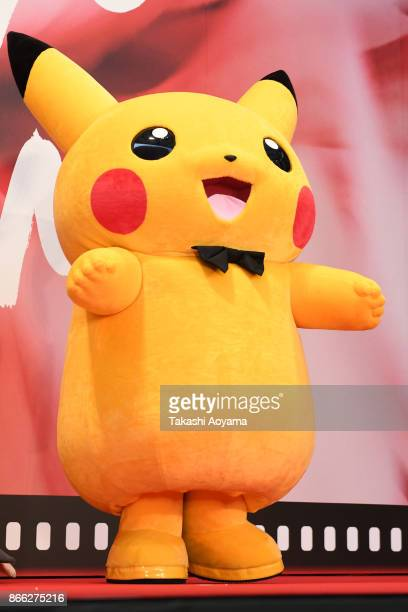 Pikachu attends the red carpet of the 30th Tokyo International Film Festival at Roppongi Hills on October 25 2017 in Tokyo Japan