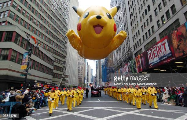 Pikachu balloon makes its way down Broadway during the 79th annual Macy's Thanksgiving Day Parade