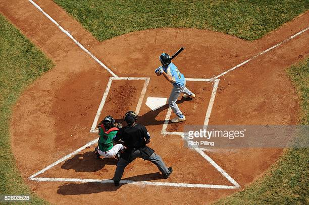 Pikai Winchester of the Waipio Little League team bats during the World Series Championship game against the Matamoros Little League team at Lamade...