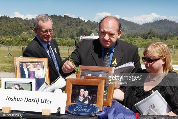 Pike River Mine CEO Peter Whittall lays a fern on a table at a national memorial service for the 29 miners that lost their lives in the Pike River...